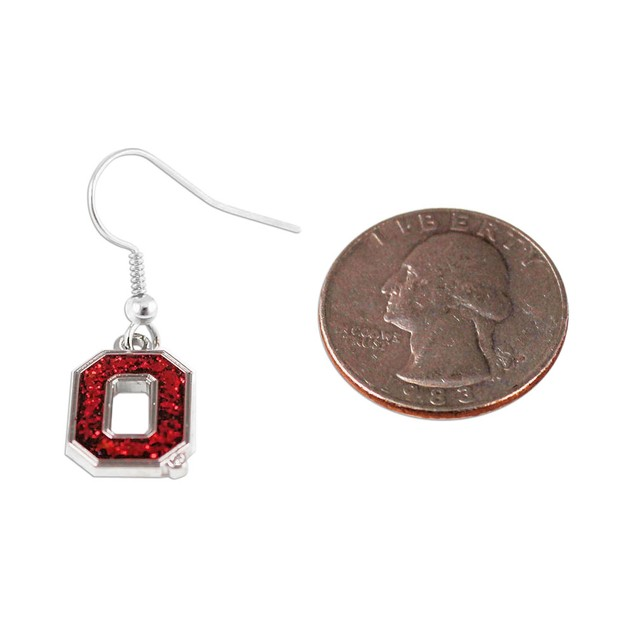 Ohio State Buckeyes Glitter Dangle Logo Earring Set Charm Gift