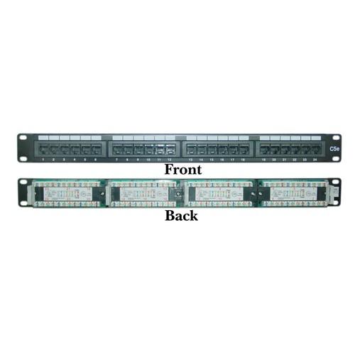 Rackmount 24 Port Cat5e Patch Panel, Horizontal, 110 Type, 1U