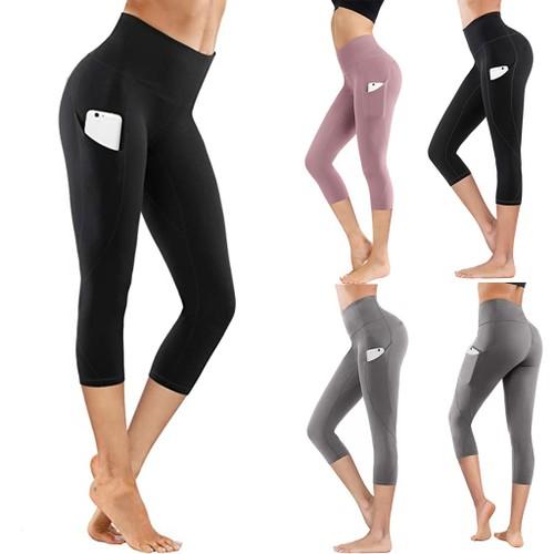 Sports Fitness Yoga Pants Wear High Waist Seven Points