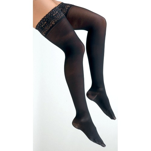 Activa Graduated Therapy Thigh Highs, Large: 20 - 30 Mm Hg, Black
