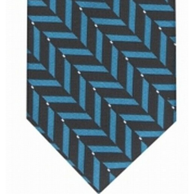Alfani Men's Slim Geometric Tie Blue Size Regular