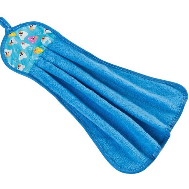 Kitchen Cartoon Thick Hanging Cloth Soft Plush Dishcloths Hand Towel