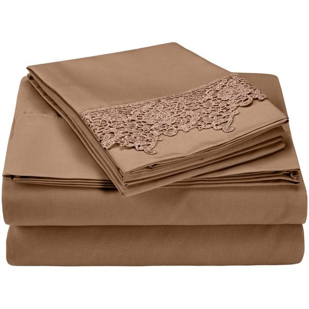 Elegant Lace Microfiber Sheet Set