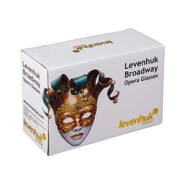 Levenhuk Broadway 325N Opera Glasses lorgnette with LED light - White