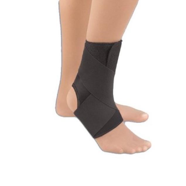 """EZ-On Sport Wrap-Around Ankle Support, 10.5 - 12.5"""", Medium, Black"""