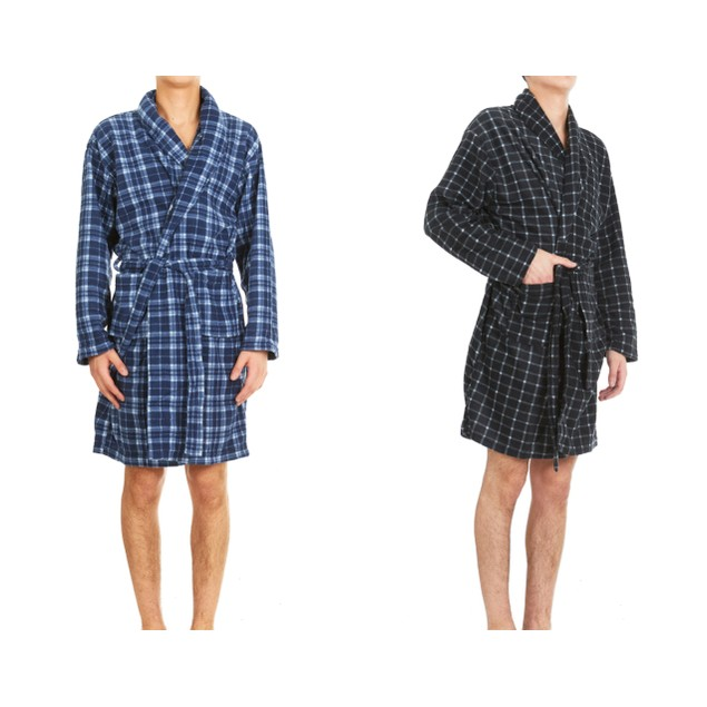 2-Pack Men's Micro Fleece Robes With Pockets