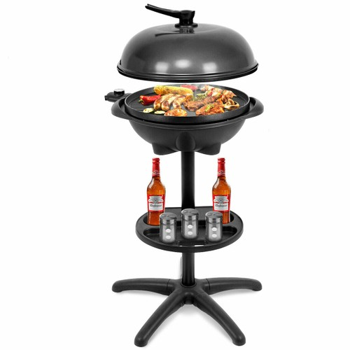 Costway Electric BBQ Grill 1350W Non-stick With 4 Temperatures
