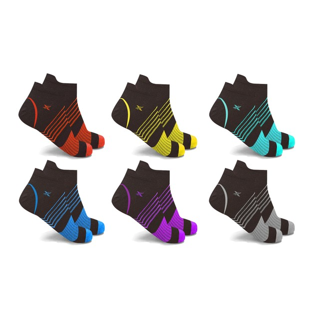 Ultra V-Striped Ankle Compression Socks (6-Pairs)