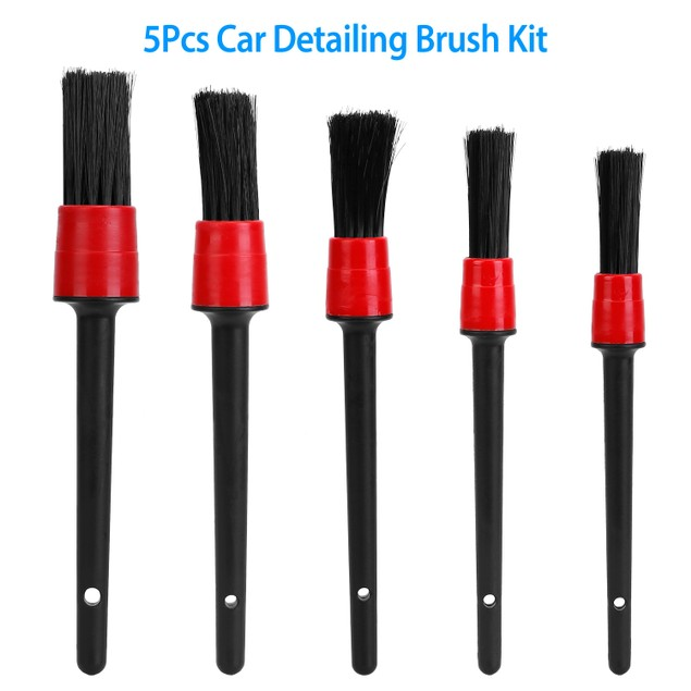 5Pcs Car Detail Cleaning Brush Set