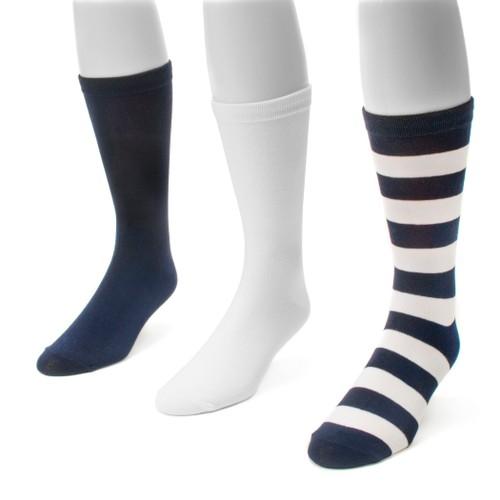 MUK LUKS ® Game Day 3 Pair Pack Crew Socks