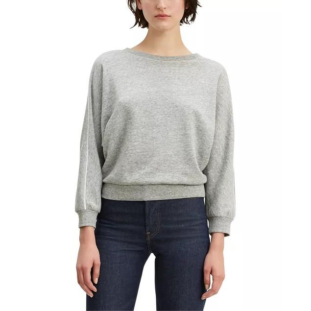 Levi's Women's Natalie Crewneck Sweatshirt Gray Size Large
