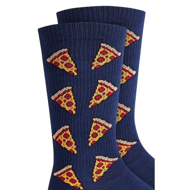 Bar III Men's Pizza Socks Navy Size Regular