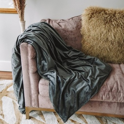"""48 x 72"""" 15lbs Weighted Blanket Gray - Z by Gravity"""""""