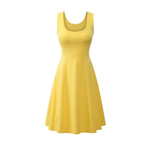 Women's Casual Scoop Neck Sleeveless Dress