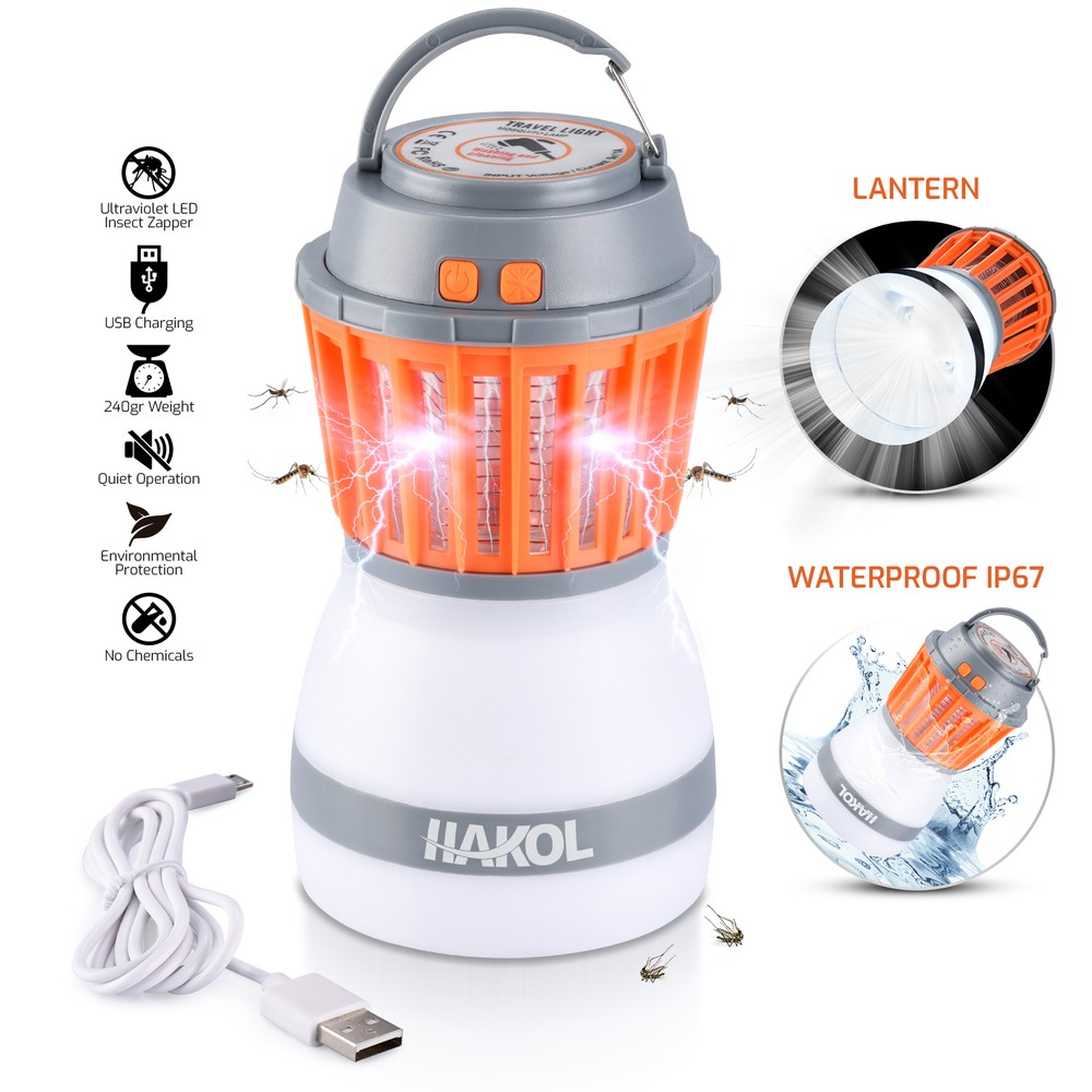 HAKOL 2-in-1 Portable Mosquito Eliminator & Camping Lantern