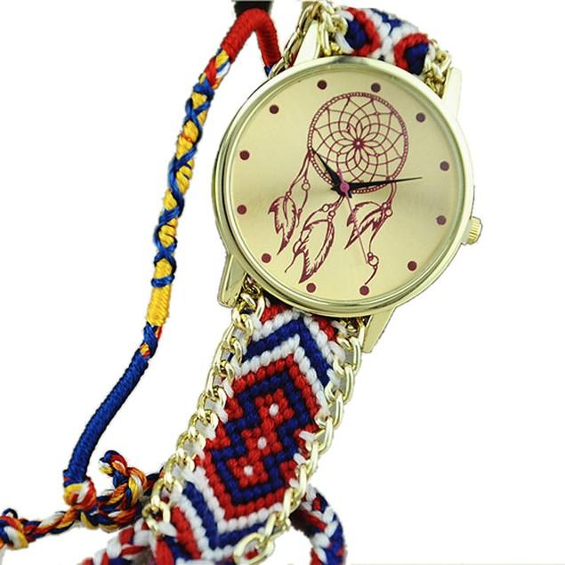Dreamcatcher Friendship Bracelet Watches Women Braid Dress Watches