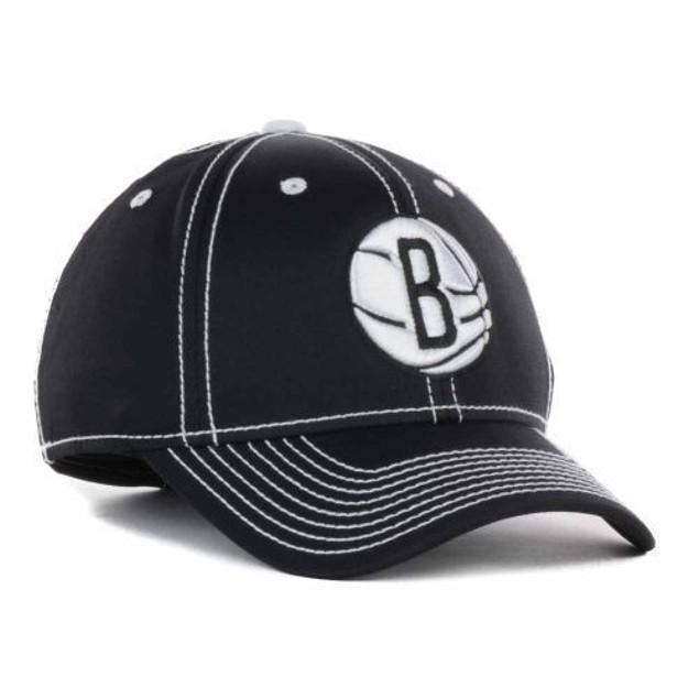 "Brooklyn Nets NBA Adidas ""Team Flex"" Flex Fitted Hat"