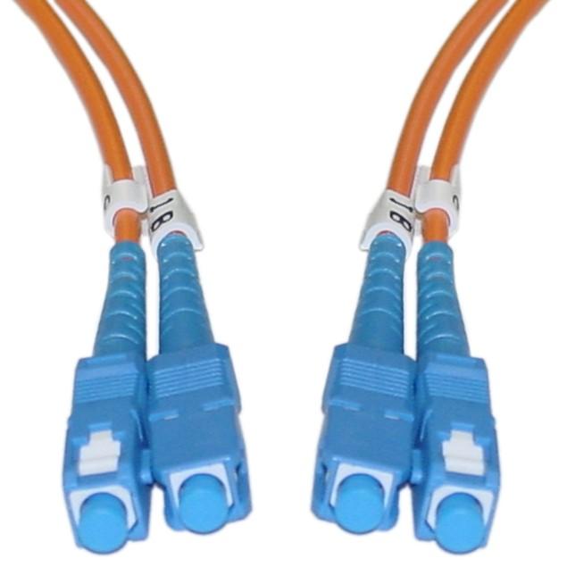 Fiber Optic Cable, SC / SC, Multimode, Duplex, 62.5/125, 3 meter (10 foot)