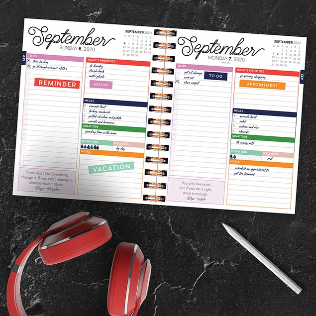 July 2020 - June 2021 Best Life Daily Monthly Luxe Planners