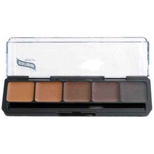Neutral Palette #3 HD Glamour Creme Foundation Palette Graftobian 5 Shades