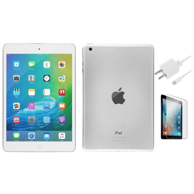 Apple iPad mini 2 Bundle 16GB (Case, Charger, Screen Protector) 7.9-inch Wifi Only Silver Bundle