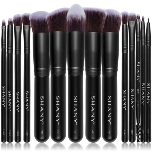 SHANY Black Bombshell 14-Piece Makeup Brush Set
