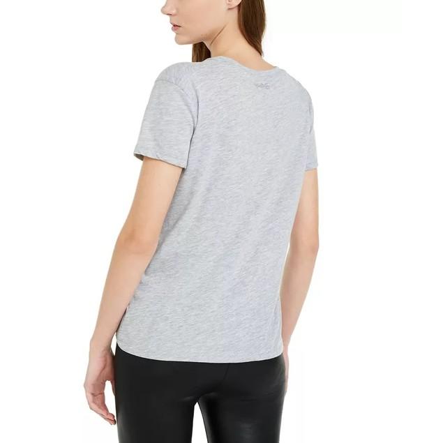 Disney Juniors' Mickey Mouse Graphic T-Shirt Gray Size Medium