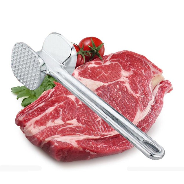 Steak Tenderizer Aluminum Alloy Meat Knock-sided Hammer Kitchen
