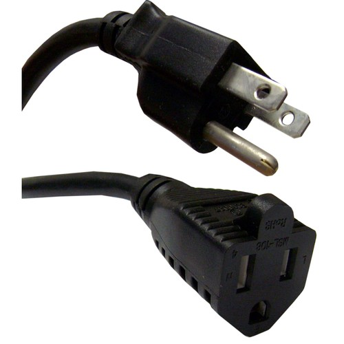 Power Extension Cord, 13 Amp, 16 AWG, 6 foot
