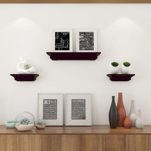 Costway Set of 3 Fireplace Mantel Shelf Ledge Floating Wall Mounted Shelves