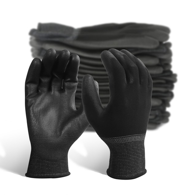 EvridWear 12 Pairs Ultralight Breathable Waterproof PU Coated Gloves