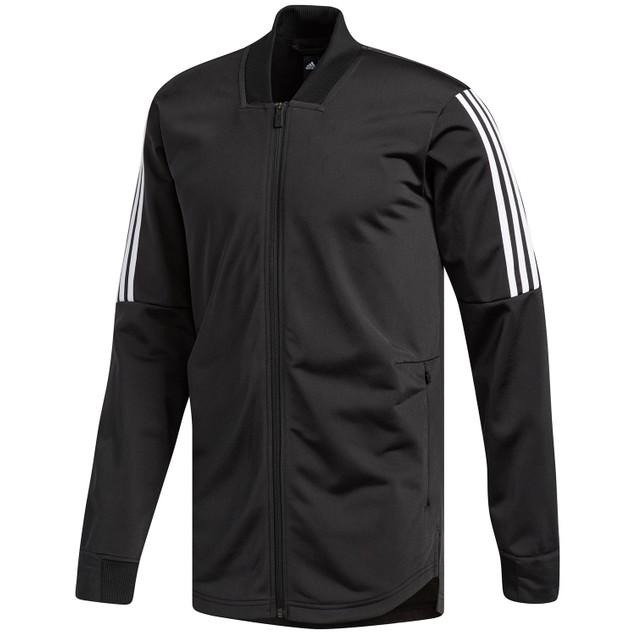 Adidas Men's Sport Id Bomber Track Jacket Black Size Small