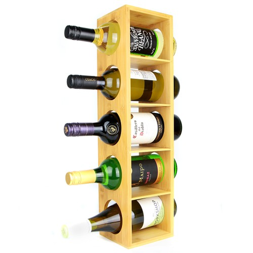 MandW Bamboo Wall Mounted Wine Rack