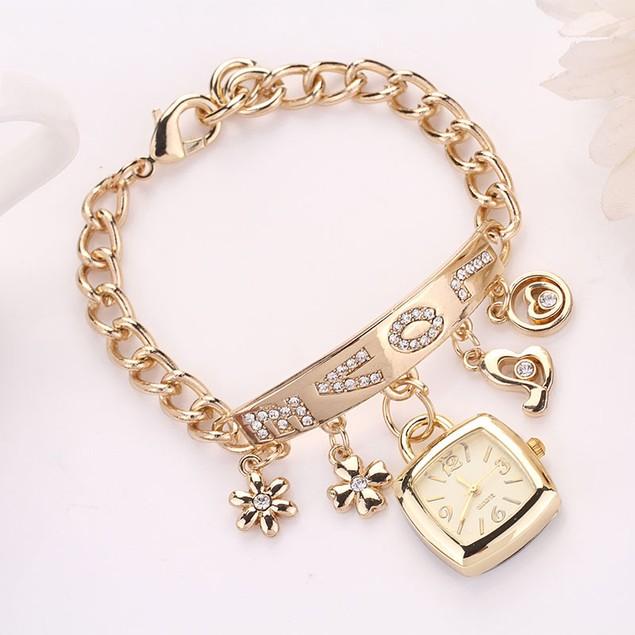 Women's Rhinestone Chain Bracelet Wrist Watch