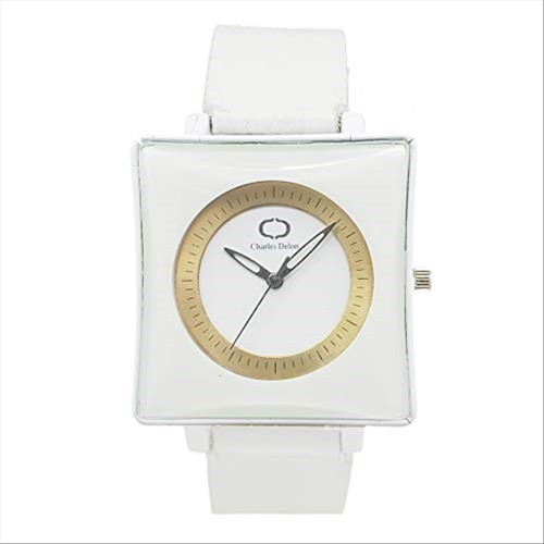 Charles Delon Women's Watches 5357 GWWW White/White Stainless Steel Quartz Round