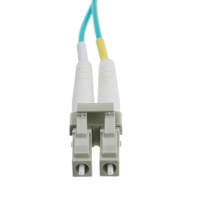 10 Gigabit Aqua Fiber Optic Cable, LC / LC, 50/125, 30 meter (98.4')