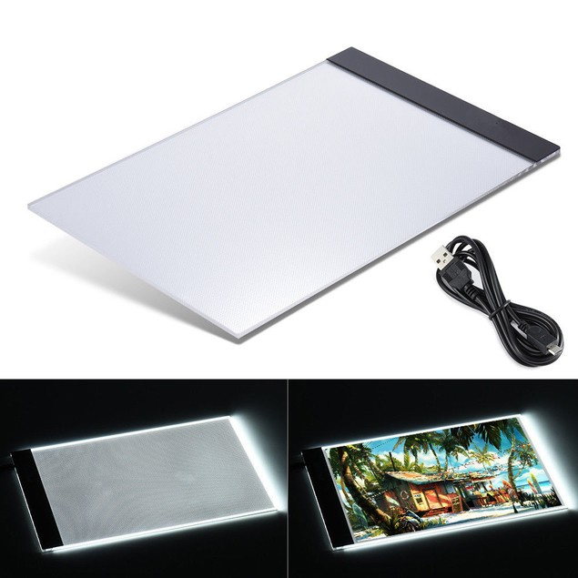 A4 LED Light Box Tracer Art Design Stencil Touch Board Artist Drawing
