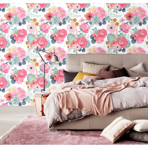"""93005-2 Floral Wallpaper Peel and Stick Contact Paper 17.7""""x 19.7ft"""