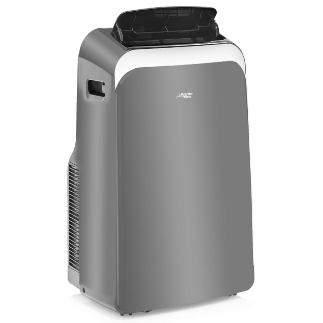 Arctic King 12,000 BTU (8,000 BTU DOE) Portable Air Conditioner with Wi-Fi, Gray