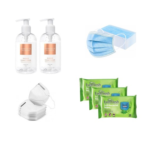 Family Protection To-Go Kit Deluxe - Masks/Sanitizer/Wipes
