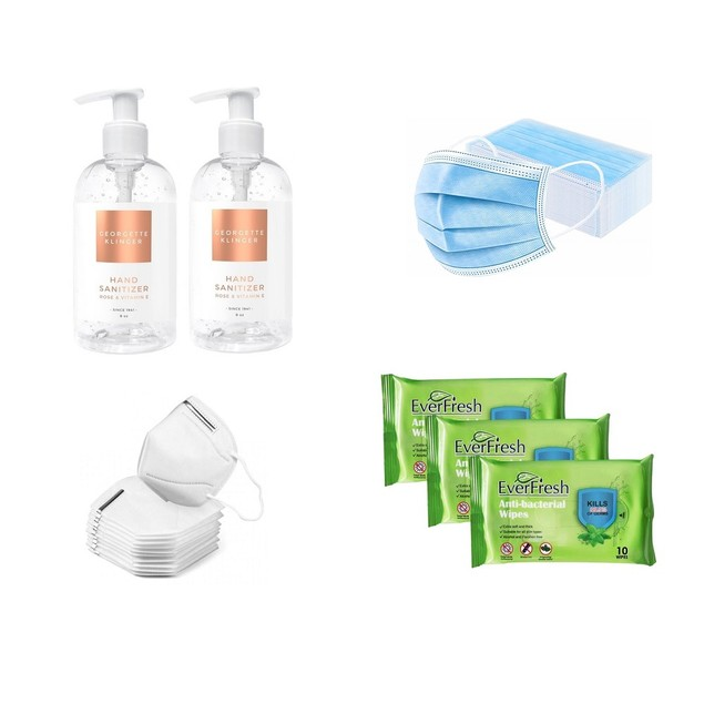 Family Protection To-Go Kit Deluxe Masks/Sanitizer/Wipes
