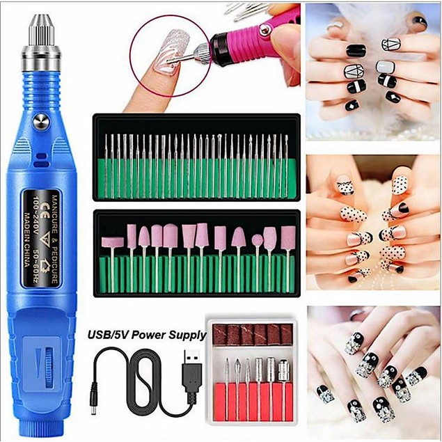 3 Colors Professional Electric Nail File Drill Manicure Tool