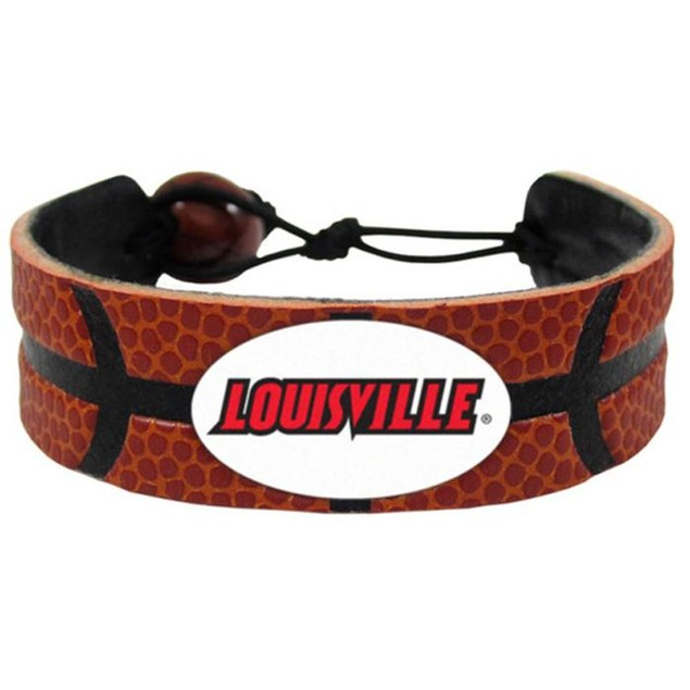 Louisville Cardinals Classic Basketball Bracelet NCAA College D1 Leather