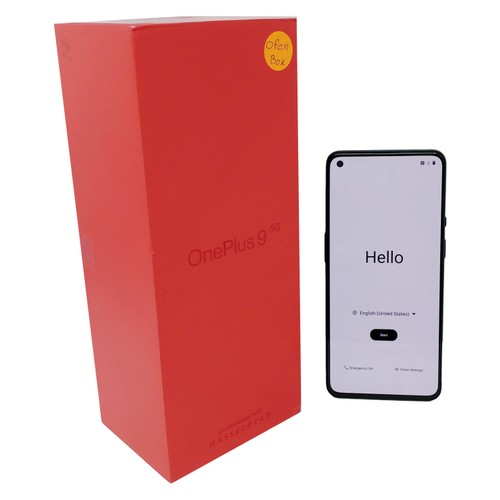 OB OnePlus 9 5G 128GB LE2115 Factory Unlocked 8GB RAM Smartphone - Black