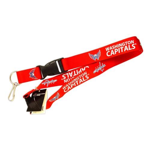 Washington Capitals Clip Lanyard Keychain Id Ticket Holder NCAA - Red