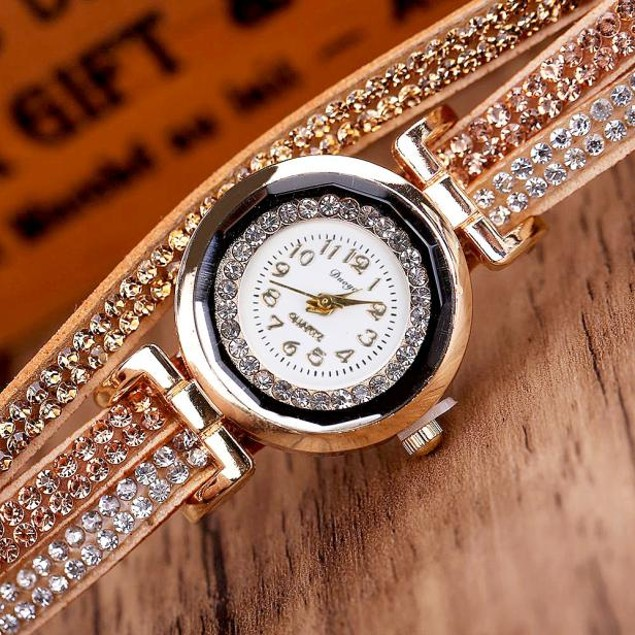 Luxury Crystal Women Bracelet Quartz Wristwatch Rhinestone Watches