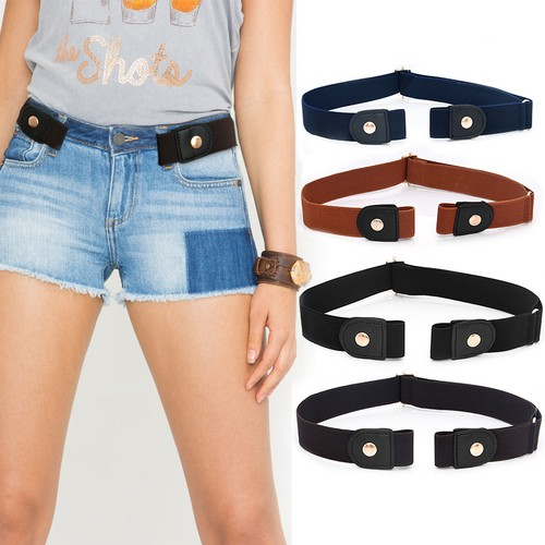 Men and Women's Buckle Free Adjustable Stretch Belts for Jeans and Pants
