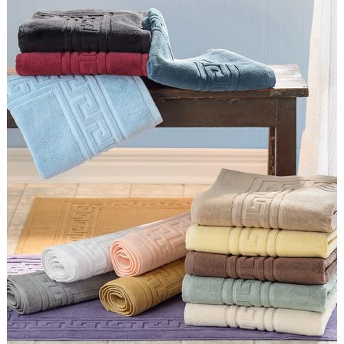 Cotton 900 GSM Solid Absorbent 2-Piece Bath Mat Set by Blue Nile Mills