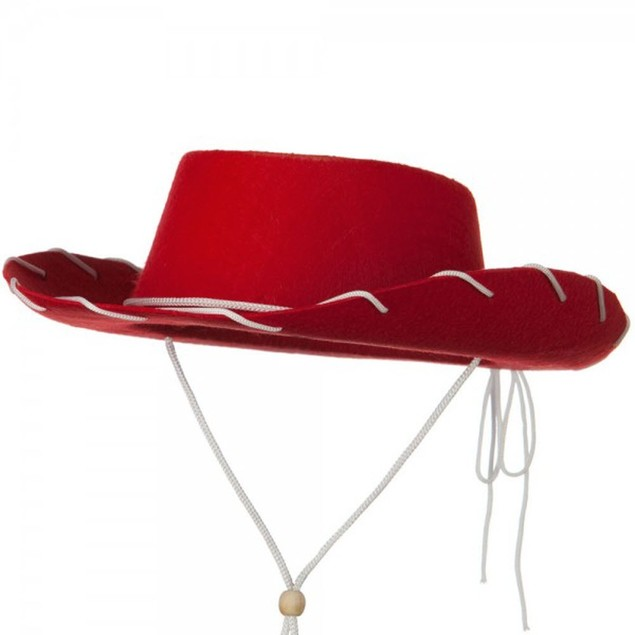 Red Felt Cowboy Child Hat