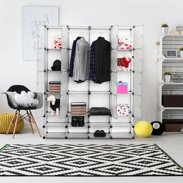 DIY 16+8 Cube Portable Clothes Wardrobe Cabinet Closet Storage